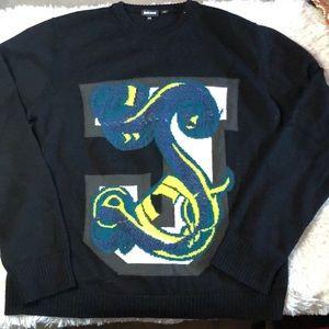 Just Cavalli letter J crew neck sweater